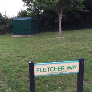 BT Infinity box at Fletcher Way