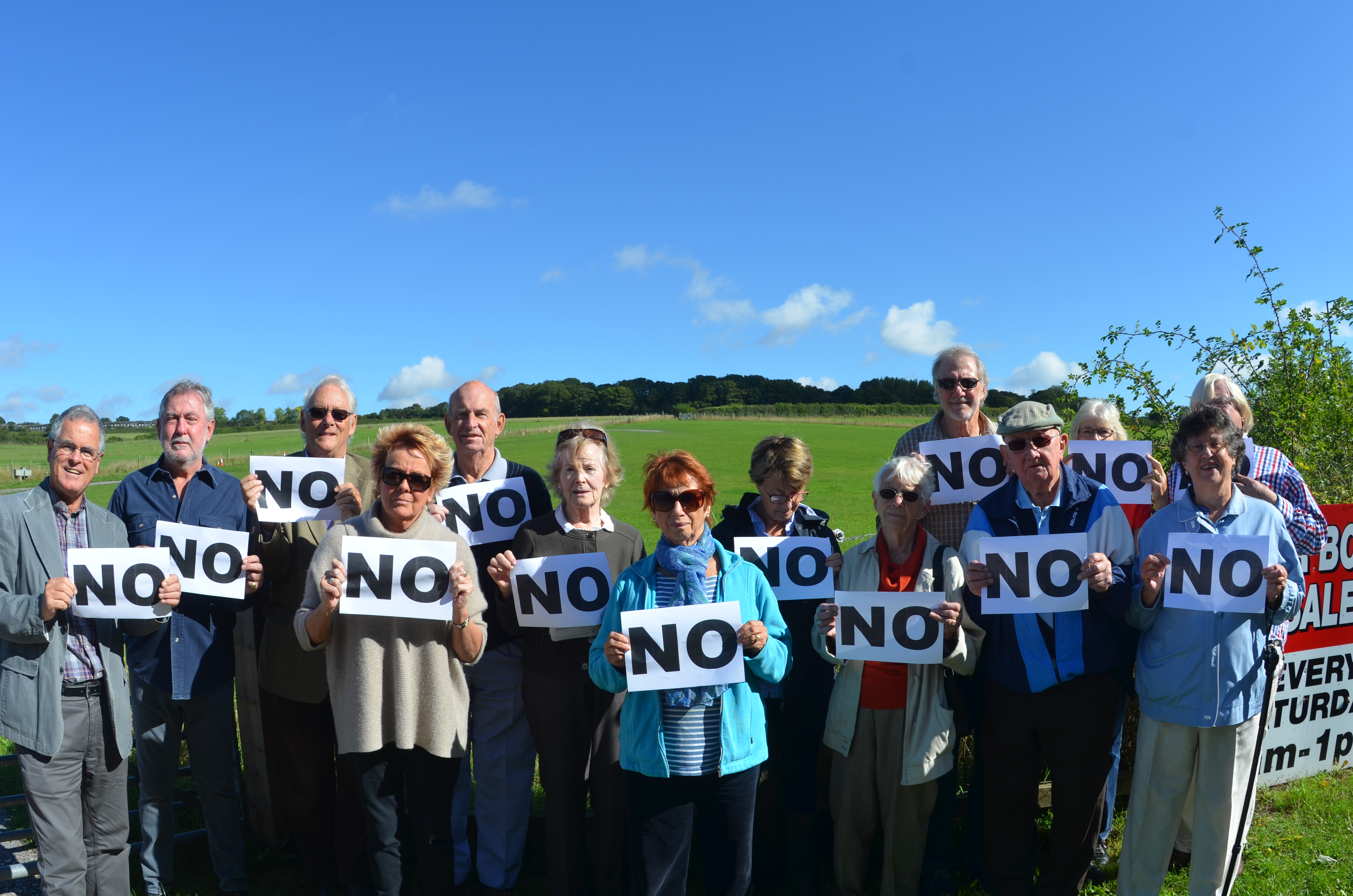 PERA residents protest against against the development of Marchmont Fields last year