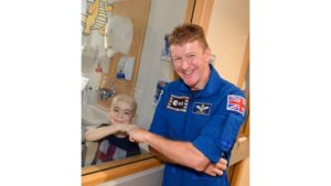 Tim Peake with Rupert Cross